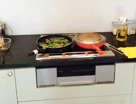 Bếp từ Panasonic có lò nướng